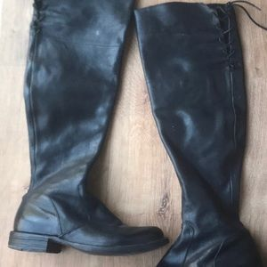 Fiorentini & Baker black leather boots size 38
